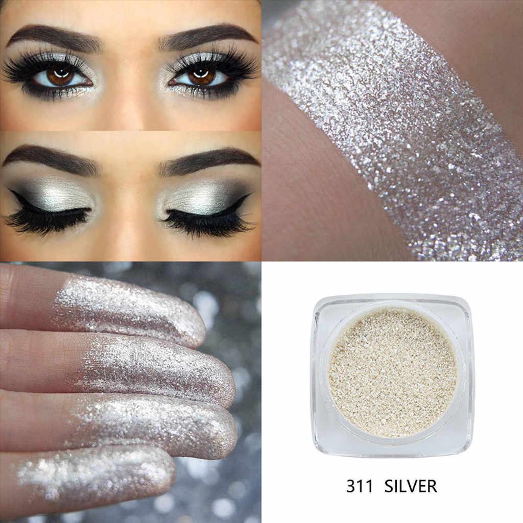 PHOERA métallique diamant couleur unique miroitant fard à paupières Palette de maquillage paillettes poudre ombre à paupières pigmenté Smoky maquillage