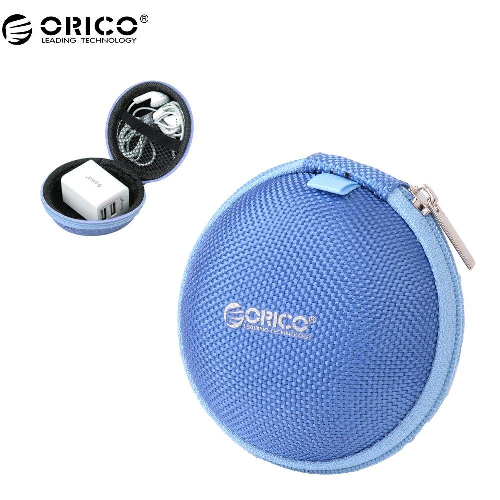 ORICO Portable Case for font b Headphones b font Case Mini Zippered Round Storage Hard Bag