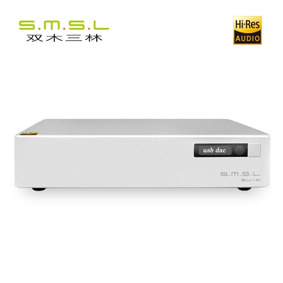 SMSL S.M.S.L SU-8 Salut-Res DAC ES9038Q2M * 2 DSD 64/512 PCM 44.1/768 kHz USB/Optique /Coaxial Décodeur