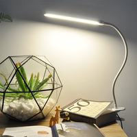 LED Clip On Light Dimmable Eye Cared Bed Light Reading Light With 360 Degrees Flexible Neck