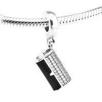 Pandulaso 100% 925 Bijoux En Argent Sterling perles DIY Faire Bourse Pavée Perle Fit Européenne Charm Bracelet Foulard et Collier