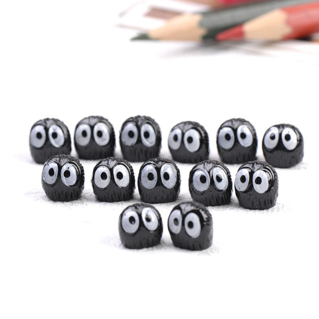 10 Pcs Black Elf Small Ornaments Animal Figurines Statues Decorative Crafts Home Decor Birthday Wedding Gift  Room Decor 2