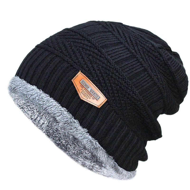 749305730 2019 Men Winter Beanies Knitted Hat Caps Mask Gorras Bonnet Warm ...