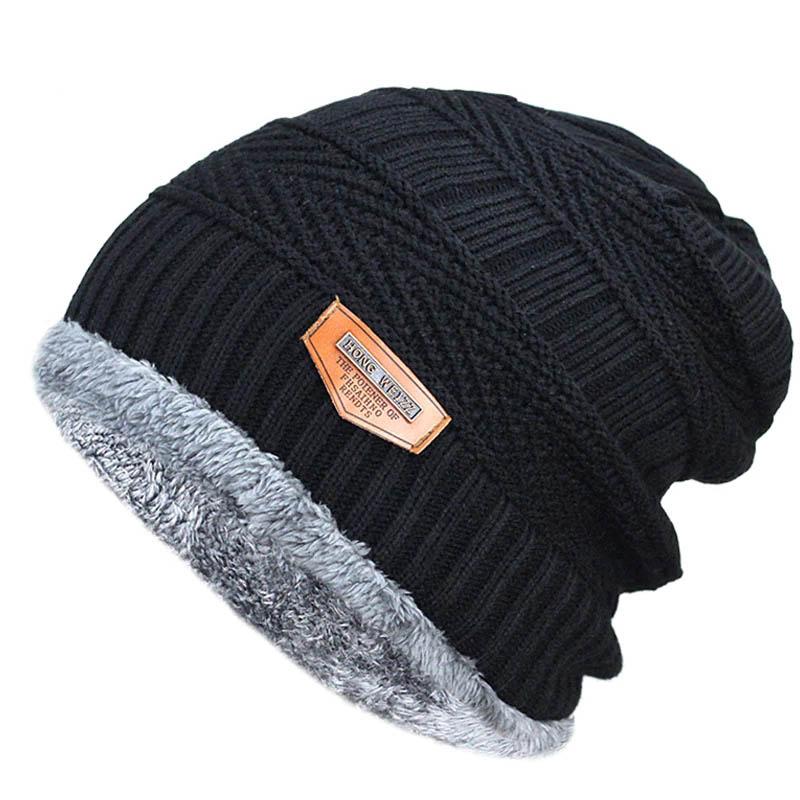 2019 Men Winter   Beanies   Knitted Hat Caps Mask Gorras Bonnet Warm Baggy Winter Hats For Men   Skullies     Beanie