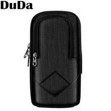 Nylon Breathable Mesh Double Zipper Arm Bag Sport Running Mobile Phone Holder Case on Hand Armband