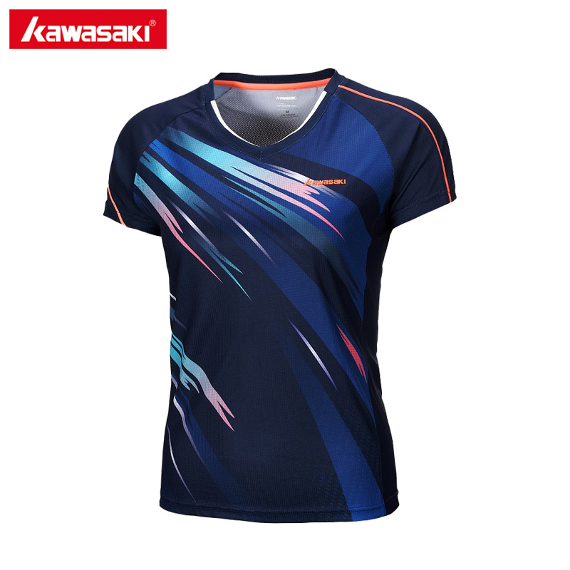 Kawasaki Summer Sporting Shirts Tennis Badminton T Shirt Super Light Short-sleeved T-Shirt For Female Women ST-172004