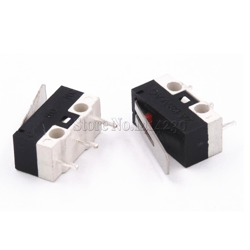 10Pcs Limit Switch Push Button Switch 1A 125V AC Mouse Switch 3Pins Micro Switch 10pcs v 155 1c25 momentary limit micro switch spdt snap action switch