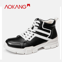 AOKANG 2019 New Arrival Shoes Men Genuine Leather Ins Trainers Fashion men Casual Shoes Sneakers Lac-up Lightweight Comfortable