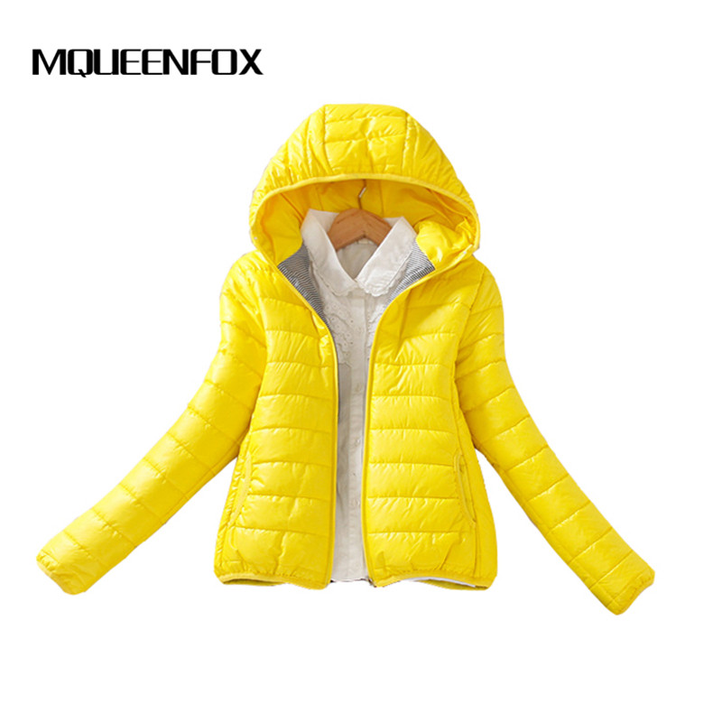 Thin light Basic Jackets 2019 Women Winter Solid Hooded Jacket Coat Female Warm Padded cotton   Parkas   Outwear Women Jacket