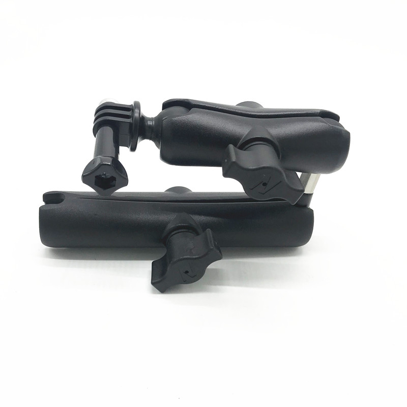 Tough-Claw Handlebar Mount & Double Socket Swivel Arm For  GoPro HERO Adapter Camera For Ram Mount