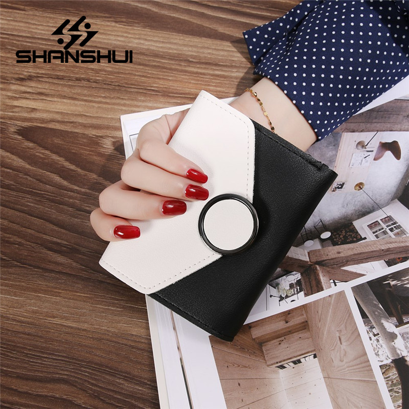 Leather Women Three Fold Wallets Ladies 2017 Hasp Fashion Small Wallet Coin Purse Female Card Holder Purses Money Bag Clutch