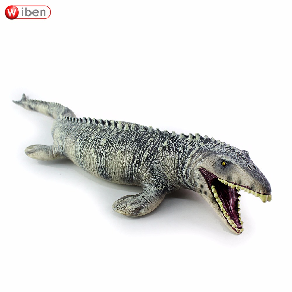 Jurassic Big Mosasaurus Dinosaur toy Soft PVC Action Figure Hand Painted Animal Model Collection Dinosaur Toys For Children Gift wiben jurassic carnotaurus action figure animal model collection vivid hand painted souvenir plastic toy dinosaur birthday gift