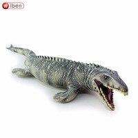 Jurassic Dinosauro Grande Mosasaurus giocattolo Morbido PVC Action Figure Dipinte A Mano Animale Giocattoli Dinosauro Modello di Raccolta Per Il Regalo Dei Bambini