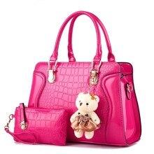 New 2 pcs set Women Handbags 2017 Fashion Women Messenger Bags Female Handbags Office Ladies Shoulder