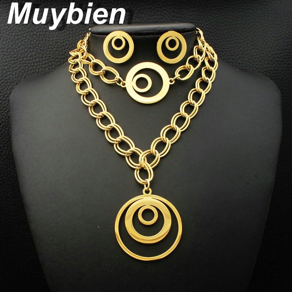 Nuevo patrón de la manera joyería de acero inoxidable collar de - Bisutería - foto 1