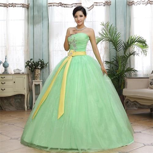 2017 Korea Stil Elegent Hochzeit Bodenlangen Kleid Vestido De Noiva ...