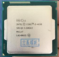 ПК компьютер процессор Intel Core i5-4690 i5 4690 четырехъядерный LGA1150 настольный процессор 100% работающий правильно настольный процессор