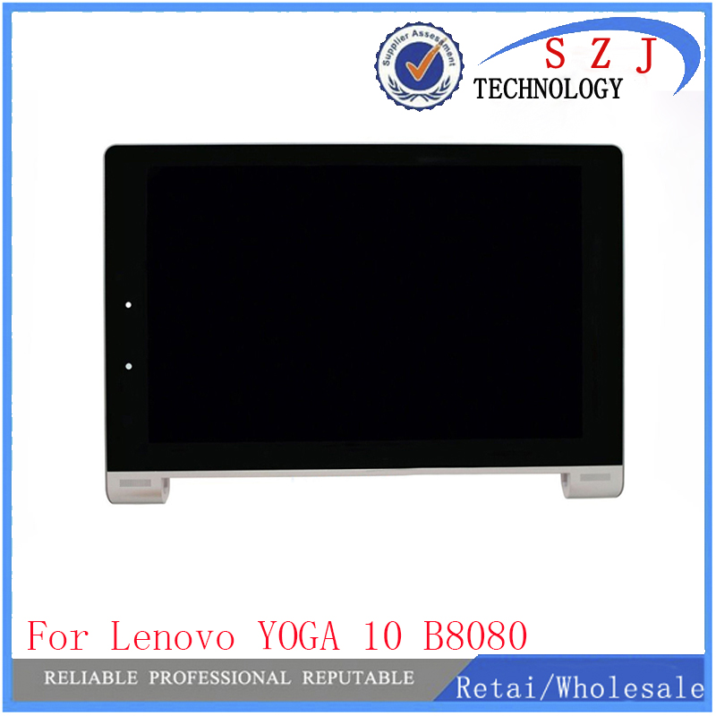 New 10.1 inch For Lenovo YOGA 10 B8080 B8080-F B8080-H Full LCD Display + Touch Screen Panel Digitizer Assembly with Frame srjtek 10 1 for lenovo yoga b8080 tablet 10 b8080 10 hd lcd display with touch screen digitizer sensor full assembly tablet pc