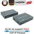 ZY-DT209 HDMI удлинитель Ethernet Rj45 IR 1080P 200 м HDMI удлинитель передатчик приемник UTP HDMI удлинитель IP от Cat5 Cat5e Cat6
