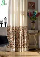 Cotton Cloth Memory Ring Line Dribbling Embroidery Curtain Embroidered French Window Curtains Living Room Cortinas Bedroom