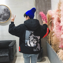 Inverno 2017 Winter Fashion Cotton Padded Jacket Warm Coat Male Clown Hat Cotton-padded Clothes Casaco Masculino Parka Men