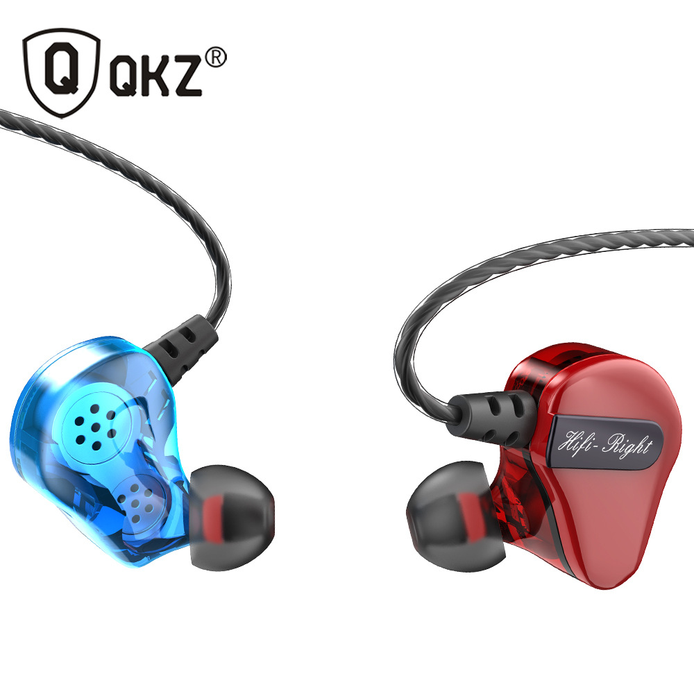 Cool Fashion Double Dynamics Sport Earphone <font><b>4</b></font> <font><b>Drivers</b></font> Stereo Bass Black Blue Red Earbuds for Music Calling Movie Game image