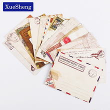 12 PCS/set Mini Retro Vintage Kraft Paper Envelopes Cute Cartoon Kawaii Paper Korean Stationery Gift(China)