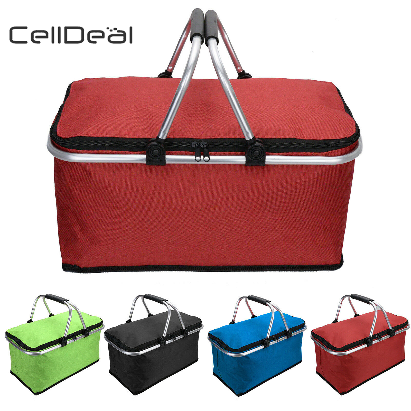 30L Insulated Folding Picnic Camping Shopping Cooler Cool Hamper Basket BagBox Kitchen Organizing|Bags & Baskets| |  - title=