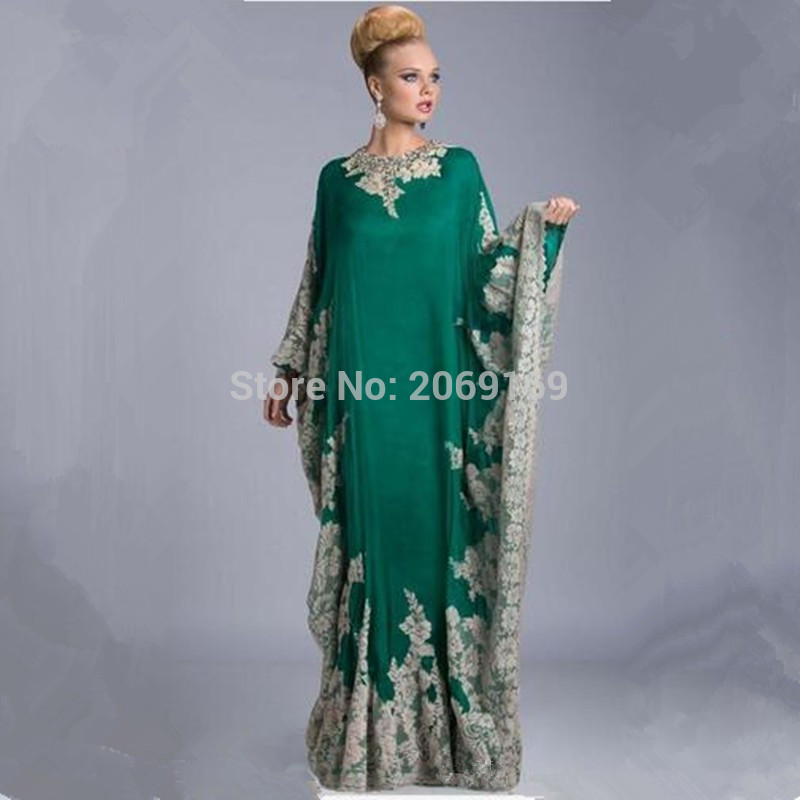 Appliques Arabic Kaftan Evening Dresses Arabic Abaya Dubai Elegant A-line Evening Dresses With Long Sleeves Mother Of The Bride Diversified Latest Designs Weddings & Events