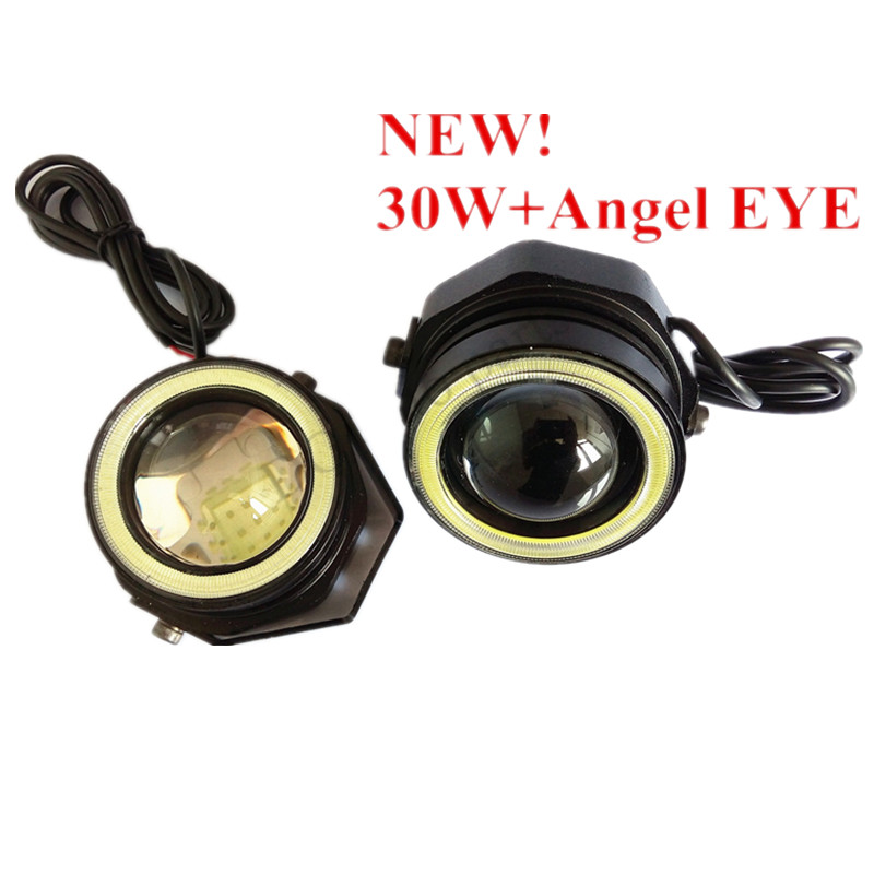 ФОТО 5 pairs/lot   Auto Eagle Eyes LED 30W Angel Eyes with COB DRL Daytime Running Lights Daylamps Searchlights Universal Waterproof