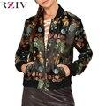 RZIV Осень куртка женщина 2016 женщин куртки повседневная вышивка куртка