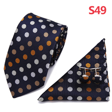 3 PCS Men Neck Tie Set Bow tie Slim Necktie high quality Skinny 7.5cm width dress Handkerchief Pocket Square Suit