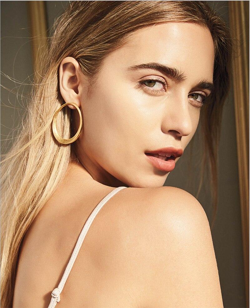 Yhpup New Fashion Brand Zinc Alloy Minimalist Stud Earrings Statement Oorbellen For Female Office Jewelry Kolczyki