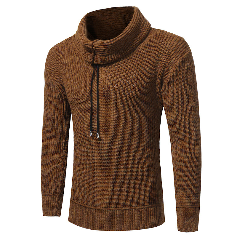 New Men High Collar casual fashion Sweater Long Sleeve Thickness Mens Knitted Sweater mens pullover for man sweaters