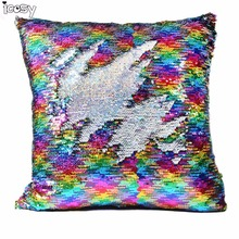 Decorative Cushion Covers Mermaid font b Pillow b font Case Cover Reversible Throw font b Pillow
