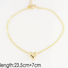 Heart Shape Anklets Foot Jewellery For Women Girls
