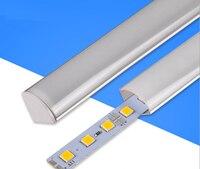 50 шт. 100 см SMD5050 5730 LED Жесткий Газа свет бар с V Крышка Кухня LED жесткая лента DC12V витрина шкаф Кабинет свет