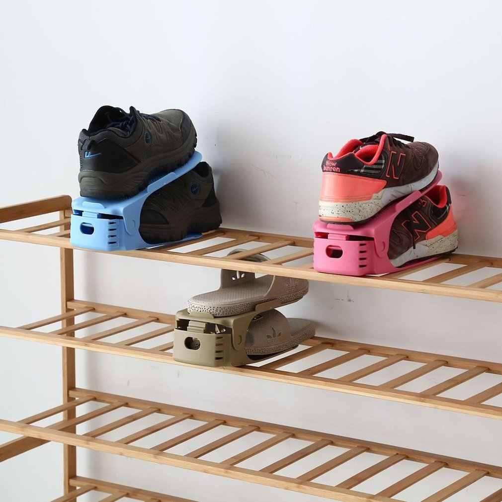 HOTShoe Racks Modern Double Cleaning Storage Shoes Rack Living Room Convenient Shoebox Shoes Organizer Stand Shelf Brace support