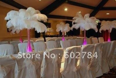EMS Brezplačna poštnina bela nojeva peresa 50pcs 50-55cm 20-22 - Umetnost, obrt in šivanje