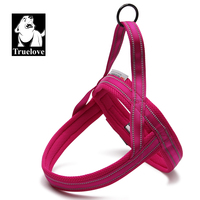 Truelove Soft Mesh Padded Dog Harness Vest 3M Reflective Security Dog Collar Nylon Material Easy Put