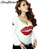 Plus Size Velvet Autumn Winter Women Sexy T Shirt Clothing Long Sleeve Letters Rhinestone T Shirt