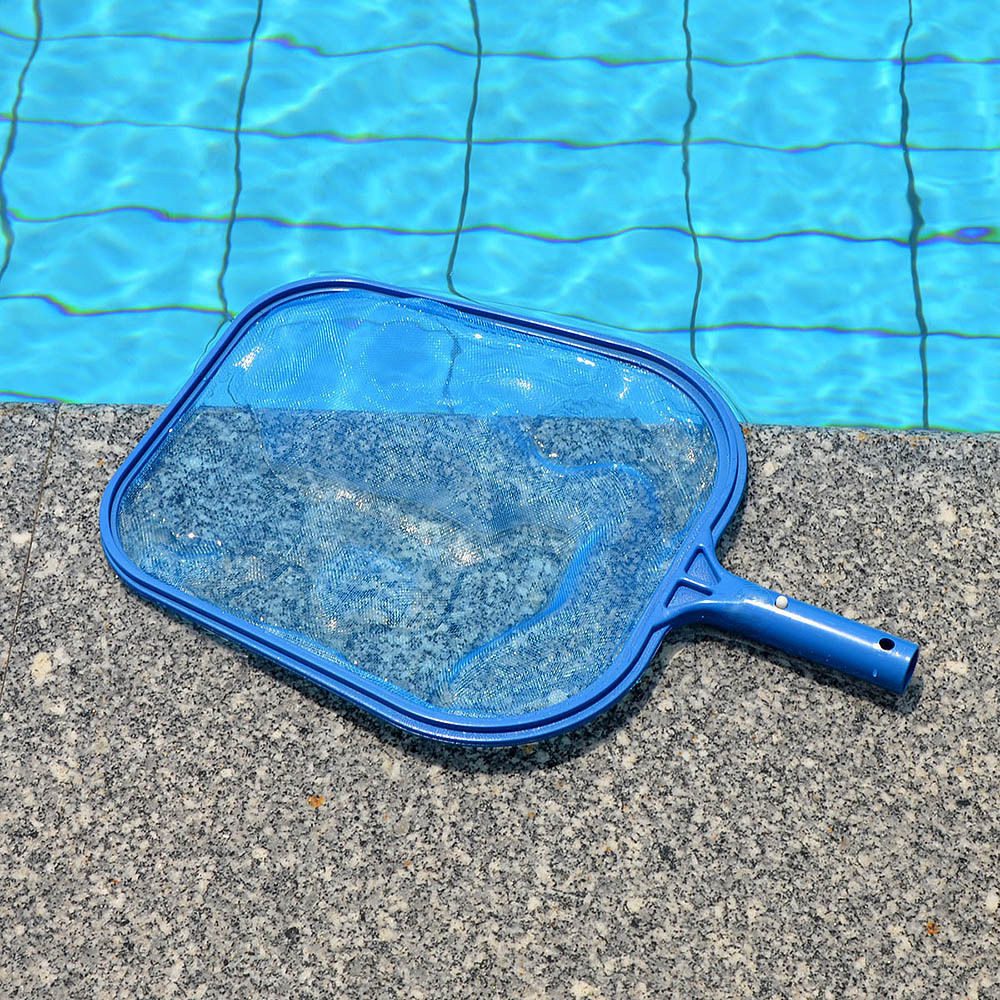 44.5*30cm Plastic Professional Leaf Rake Mesh Frame Net Skimmer Cleaner Swimming Pool Spa Tool New For Rubbish Leaves Cleaning