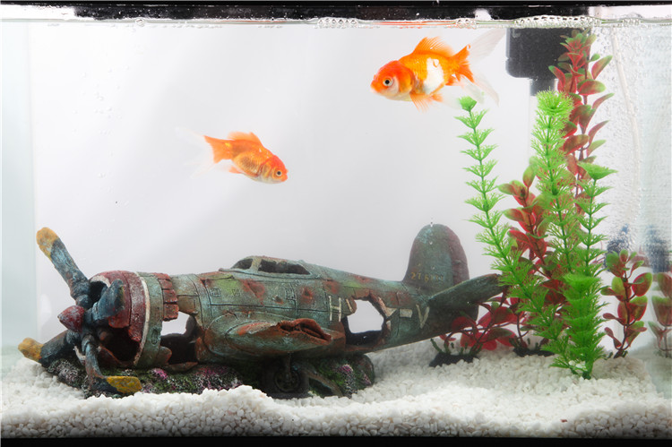 Aliexpress Com Buy Aquarium Decoration Resin Plane Wreck Airplane Artificial Craft Fish Tank Cave Home Decor Fish Tank House Ornament Landscaping From