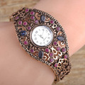 Turkish Cool Women Bracelet Watch Jewelry Hand Decoration Acrylic Antique Gold Plated Vintage Pulseras Mujer Relogio Orologio