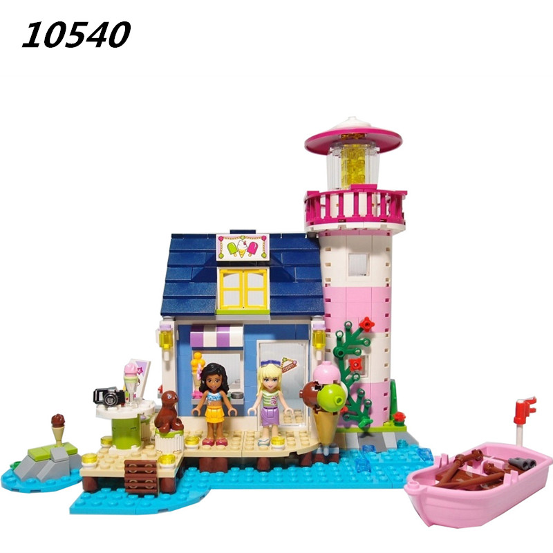 AIBOULLY 10540 478Pcs Friends Heartlake Lighthouse Model Building Kit minis Block Brick Gift Toys Friends 41094 Free Shipping игрушка lego friends 41094 маяк