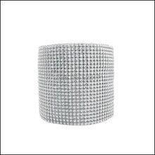 Free Shipping Silver 4.5inch x 10yards Diamond Rhinestone Ribbon Wedding  Table Decorations Plastic Diamond Mesh Trimming 660b9ca9a38a