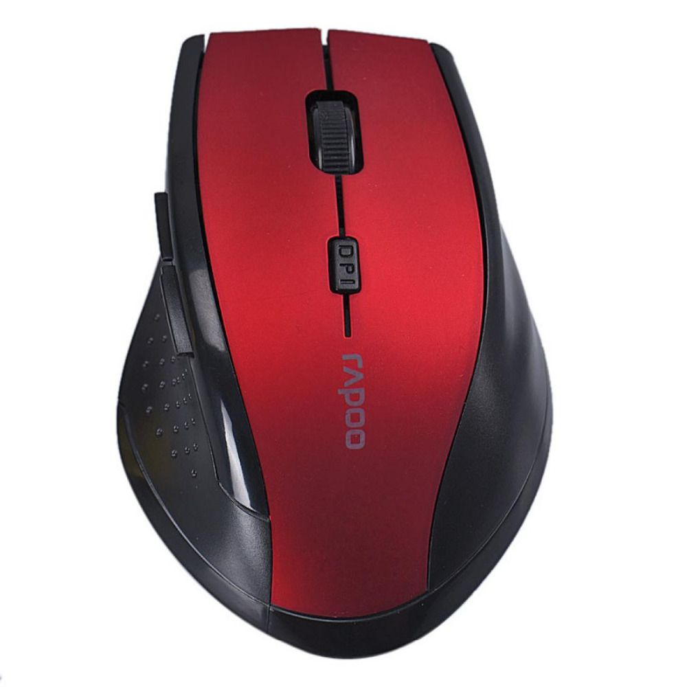 2016 Factory Price 2.4Ghz 10M Rapoo brand Optical Wireless Mouse with USB receiver For Laptop Desktop Mouse Malloom(China (Mainland))