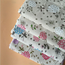 DIY Patchwork Sewing Fabric Cotto Linen Floral Series Printed Cotton Woven Cloth For Home Textile Decoration