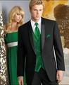 Custom Made casamento Do Noivo Smoking Preto Padrinhos Xaile Lapela de Cetim Casamento/Jantar Ternos Melhor Homem do Noivo (Jacket + Pants + gravata + Colete) B243