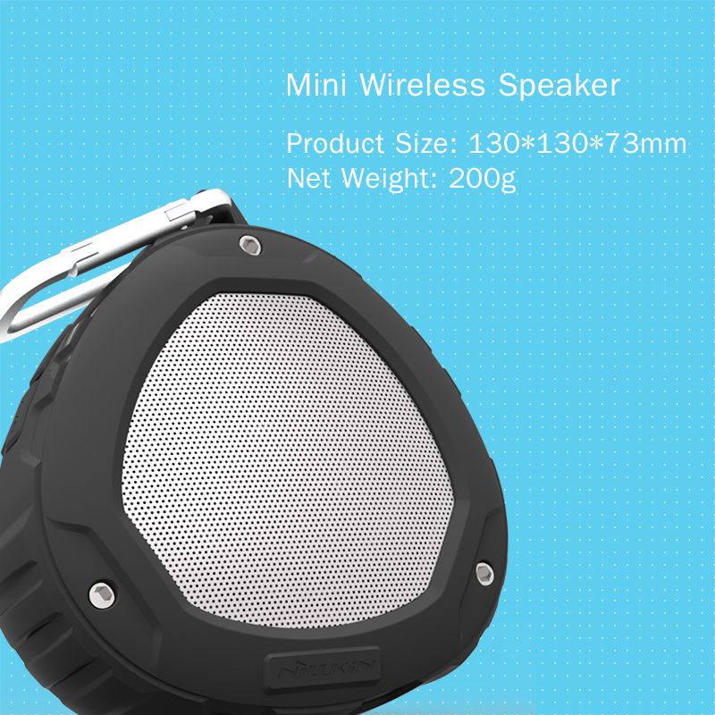 Nillkin Mini Al aire libre Bluetooth Altavoz portátil 4.0 IPX4 Caja - Audio y video portátil